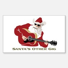 Santa's Other Gig Rectangle Decal