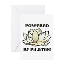 Powered by Pilates Lotus Greeting Card