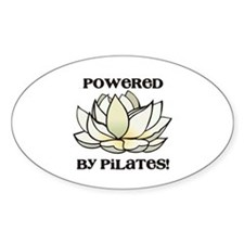 Powered by Pilates Lotus Oval Decal