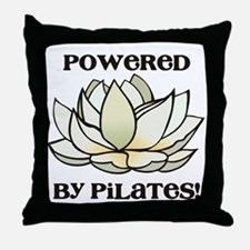 Powered by Pilates Lotus Throw Pillow