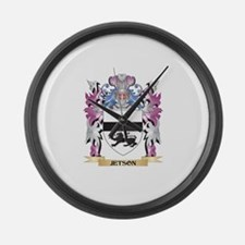 Jetson Coat of Arms - Family Cres Large Wall Clock