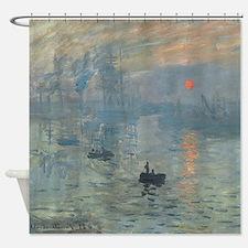 Claude Monet Impression Soleil Levant Shower Curta