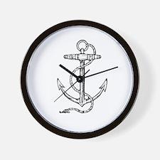 Nautical Anchor Sailor / Pirate Wall Clock