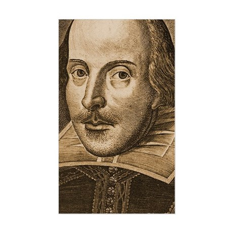 Droeshout's Shakespeare Sticker (Rectangle)