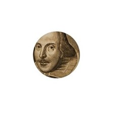 Droeshout's Shakespeare Mini Button (10 pack)