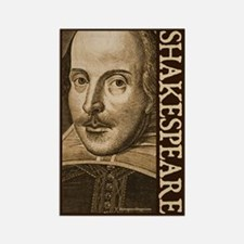 Droeshout's Shakespeare Rectangle Magnet
