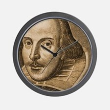Droeshout's Shakespeare Wall Clock