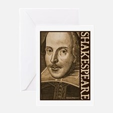 Droeshout's Shakespeare Greeting Card
