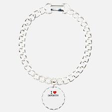 I Love INFINITY Charm Bracelet, One Charm
