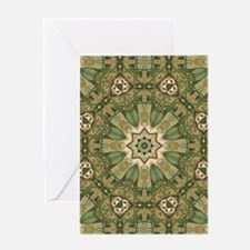 botanical bohemian boho floral Greeting Cards