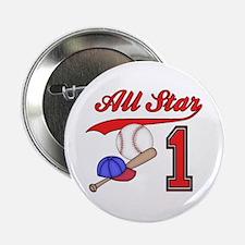 "AllStar Baseball First Birthday 2.25"" Button"