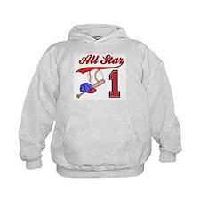 AllStar Baseball First Birthday Hoodie