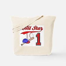 AllStar Baseball First Birthday Tote Bag