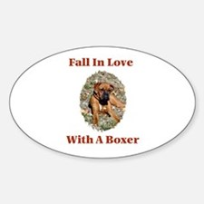 Boxer - Fall In Love Oval Decal