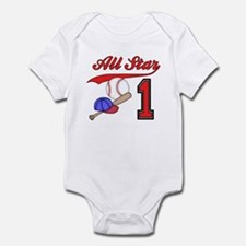AllStar Baseball First Birthday Infant Bodysuit