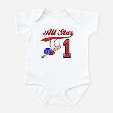 AllStar Baseball First Birthday Onesie