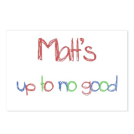 Matt's Up To No Good Postcards (Package of 8)