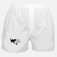 Do What I Want Cat Boxer Shorts