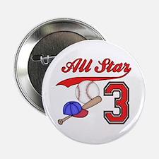"""AllStar Baseball 3rd Birthday 2.25"""" Button"""