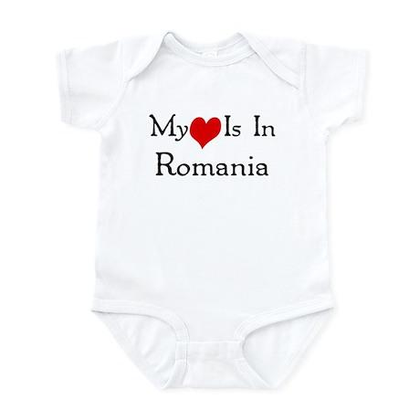 My Heart Is In Romania Infant Bodysuit