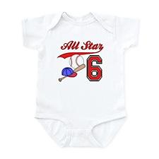 AllStar Baseball 2nd Birthday Infant Bodysuit