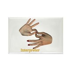 Female Interpreter Rectangle Magnet