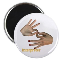 Female Interpreter Magnet