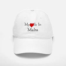 My Heart Is In Malta Baseball Baseball Cap