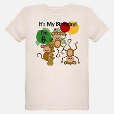 Monkey 6th Birthday T-Shirt