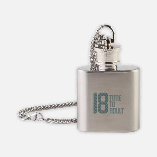 Time to Adult Blue Flask Necklace