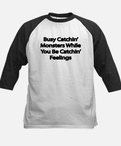Busy catching Monsters Baseball Jersey