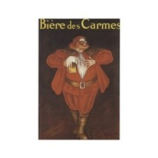 Biere De Carmes Vintage Adver Rectangle Magnet