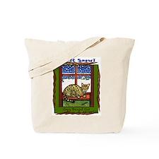 Christmas Bengal Cat Tote Bag