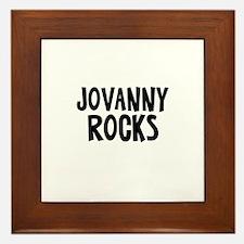 Jovanny Rocks Framed Tile