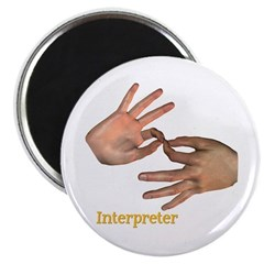 Male Interpreter Magnet