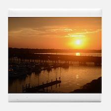 Charleston Sunset Tile Coaster