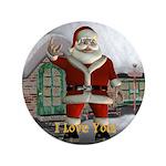 "Santa ""I Love You"" 3.5"" Button"