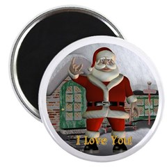 "Santa ""I Love You"" Magnet"