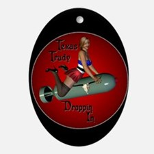 WWII Nose Art Oval Ornament