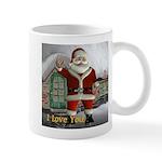 """Santa """"I Love You"""" Mug"""