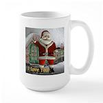 """Santa """"I Love You"""" Large Mug"""