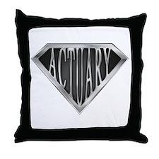 SuperActuary(metal) Throw Pillow
