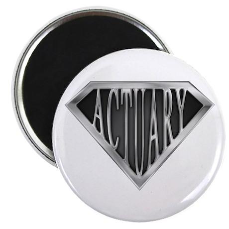 """SuperActuary(metal) 2.25"""" Magnet (10 pack)"""