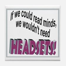 Headsets Tile Coaster