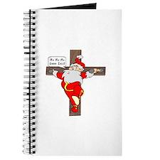 Santa on a crucifix Journal