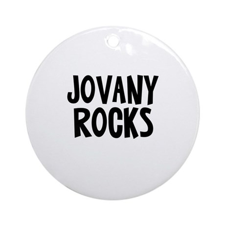 Jovany Rocks Ornament (Round)