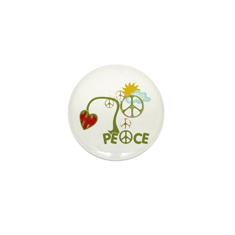 Peace Sign Abstract Anti War Mini Button (10 pack)