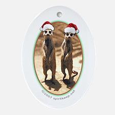 Merry Meerkat Christmas! Oval Ornament
