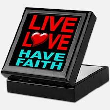 Live Love Have Faith Keepsake Box (black)