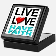 Live Love Have Faith Keepsake Box (white)